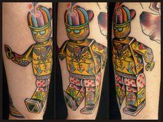 ~Lego Tattoo~ Cool Tattoos, Tatoos, Amazing Tattoos, Lego Tattoo, Lego For Kids, Legoland, Tattoo Shop, Tattoo Inspiration, Body Painting