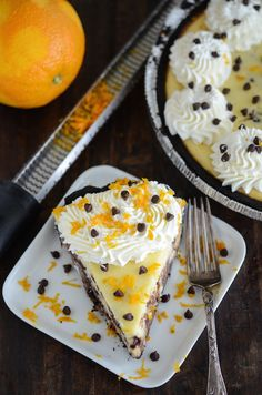 Cannoli Cheesecake: made with fresh orange zest and mini chocolate chips