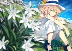 animation, anime, and flowers image Anime Girl Cute, Kawaii Anime Girl, Anime Art Girl, Manga Art, Manga Anime, Anime Angel, Anime Flower, Girls With Flowers, Image Manga