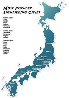 Most Popular Cities Japan | via Shiki Book Japan