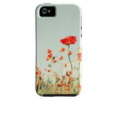Floral iPhone 4, iPhone 5 Case, Vibe Case,  Red Poppies, Poppy Flower iPhone Case, Cute, Girly iPhone Case, iPhone 4 Case, iPhone 5 Case. $45.00, via Etsy.