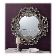 Antique Decorative Round Mirror 86cm [EE753] - £139.50 - Mirrors for Every Interior from Exclusive Mirrors