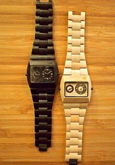 WeWOOD Jupiter Watch (Black & Beige): $135