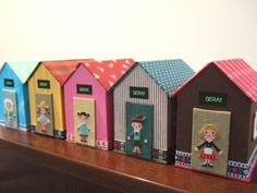 Gera's cross stitch - children in many countries, on little houses #embroidery #Japanese #craft #DIY