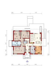 Flo II MULTI-COMFORT: Parter Small Houses, Mai, My House, House Plans, Floor Plans, How To Plan, Projects, House Template, Home Plans