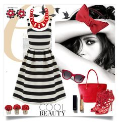 """""""Summer style"""" by asy-fashion ❤ liked on Polyvore featuring Chanel, Jayson Home, Warehouse, Liam Fahy, Alisha.D, Miriam Haskell, Alexander McQueen, Chicnova Fashion, red and dress"""