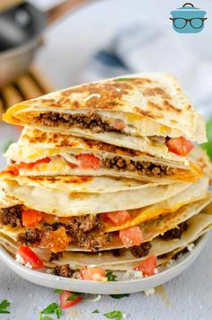 Have fun with your tortillas and make this twist on a Taco Quesadilla! Easy ingredients help this folded hack come together easily. Flavorful and fun!