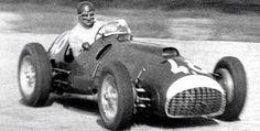 Serafini in action in the big Ferrari. (1950)