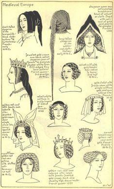 Bilderesultat for medieval headwear for ladies