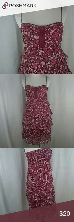 American Eagle outfitters dress size 4 Sheer zip up dress. Spaghetti straps and ruffle bottom. Floral. American Eagle outfitters Dresses