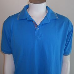 Robert Graham Polo Shirt Large LG Embroidered Knowledge Wisdom Truth Mens Blue #RobertGraham #PoloRugby