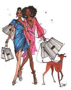 #izakzenou #fashionillustration #watercolor #fabulousfashion #trafficnyc #artistprints info@traffic-nyc.com #fashionwalk #shoppinggirls #henribendel #greyhound