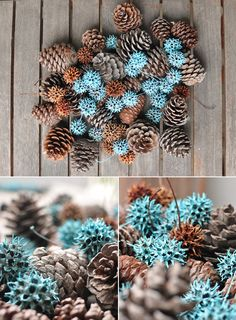 Gum Balls ~ I have about a gazillion of these if you want to do something creative with them! Diy And Crafts, Crafts For Kids, Arts And Crafts, Painted Pinecones, Sweet Gum, Pine Cone Crafts, Nature Crafts, Xmas Decorations, Diy Ideas
