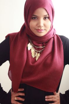 nice Hijab Style with Necklaces