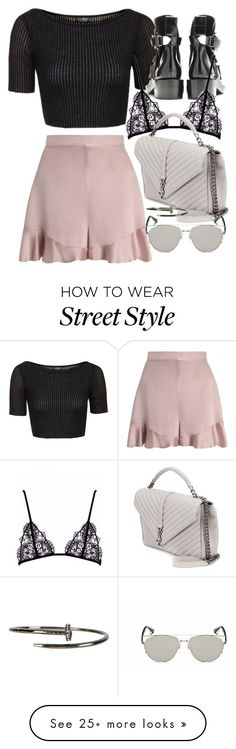 """Untitled #11219"" by minimalmanhattan on Polyvore featuring Topshop, Zimmermann, Yves Saint Laurent, Retrò and Beyond Rings"
