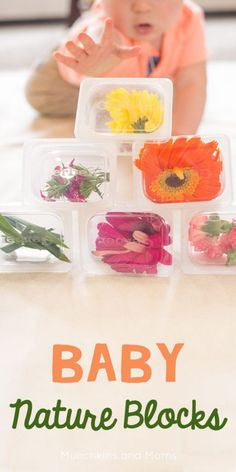 Baby Nature Blocks - fabulous for playing with sitting babies. Works hand eye coordination and is just playing gorgeous to look at! Can't wait to try this with our baby!!