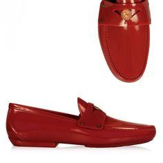 Vivienne Westwood Plastic Penny Moccasin Red | GarmentQuarter