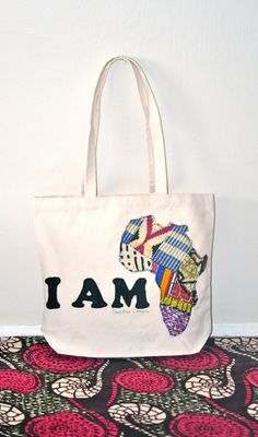 <3 I Am African Tote Bag African Shop, African Style, African Fashion, African Accessories, Handbag Accessories, African Prints, African Fabric, My Bags, Tote Bags