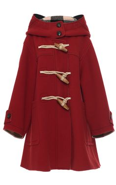 Oversized Technical Wool Duffle Coat by BURBERRY for Preorder on Moda Operandi