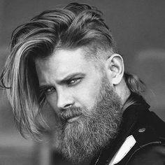 Long Beard Styles Long Beard Styles, Best Beard Styles, Long Hair Styles, Hairstyles For Round Faces, Haircuts For Men, Men's Haircuts, Shaved Curly Hair, Long Hair Trim, Corte Shag
