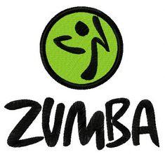 Zumba logo machine embroidery design