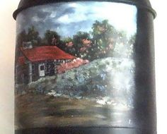 Collectible Painted Vintage Gas Can Spring Design by annimae182, $95.00