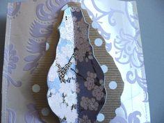 POCHETTE CADEAU PAPIER EPAIS RELIEF PARME ET DORE MOTIF PAMPILLE 3D : Emballages cadeaux par damebrocantine