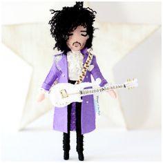 Prince art doll - Purple Rain. 18cm rock star art doll