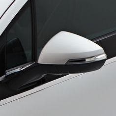 Volt Outside Rear View Mirror Covers, Silver Ice Metallic (GAN):This new GM Accessory replaces the production caps with matching color version. Caps are sold in set of two. Gm Accessories, Chevrolet Volt, Cargo Net, Rear View Mirror, The Outsiders, Metallic, Ice, Shapes, Pure Products