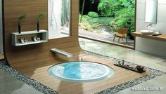 WEB LUXO - Casa & Decoração: Hidromassagens e banheiras são instaladas no piso
