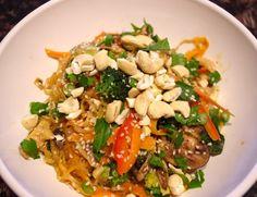 Asian fusion kelp noodle salad