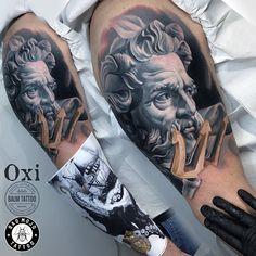 Oksana Lukyanenko (@oxi.tattoo) • Instagram photos and videos Poseidon Tattoo, Realism Tattoo, Love Tattoos, Color Tattoo, The Balm, Ink, Photo And Video, Videos, Sleeve