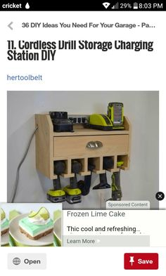 Charge station and wireless tool storage kevin pinterest do it yourself projects cordless drill fathers day diy diy gifts handprint art free plans charging stations garage storage plastering solutioingenieria Images