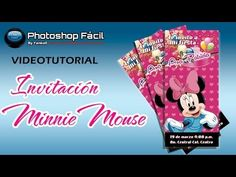 Invitación Minnie Photoshop by Yanko0 - YouTube