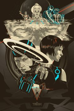 Tron Legacy by Martin Ansin-Super cool, reminds me of the Star Wars posters