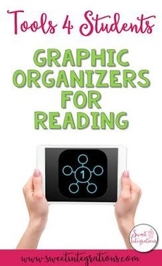 Tools 4 Students - Graphic Organizer App for Reading Comprehension Activities, Reading Strategies, Reading Comprehension, Literacy Activities, Graphic Organizer For Reading, Graphic Organizers, Teaching Reading, Teaching Ideas, Guided Reading