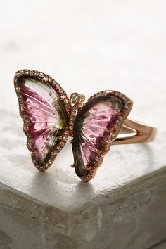 One-Of-A-Kind Butterfly Tourmaline Ring