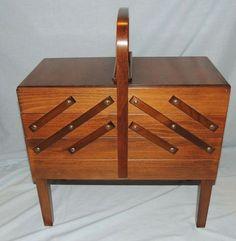Mid Century Modern Vintage Folding Sewing Cabinet Strommen Bruk Hamar Norway | eBay