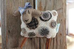 EweLa Sheep Ornament by farmyardart on Etsy
