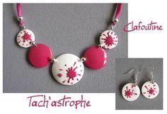 fun paint splatter necklace