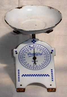 blue and white enamel scale - love this one!