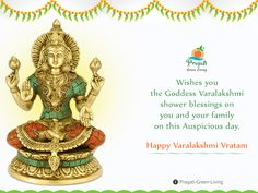 Pragati Green wishes you the Goddess #Varalakshmi shower blessings on you and your family on this auspicious day. Happy #VaralakshmiVratam