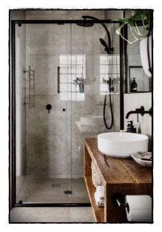 ideas for bathroom shower tile design doors Wood Bathroom, Bathroom Flooring, Bathroom Inspo, Bathroom Storage, Bathroom Bench, Tile Bathrooms, Bathroom Canvas, Bathroom Updates, Modern Bathrooms