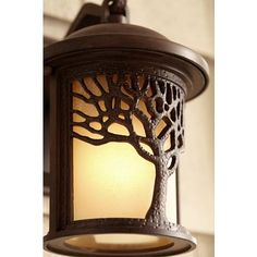 "Bronze Mission Style Tree 9 1/2"" High Outdoor Wall Light - #U9311 