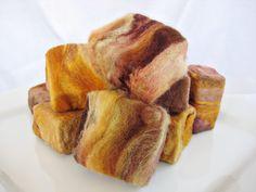 Mini Felted Rustic Autumn Soap (oatmeal, goat milk, honey, orange, vanilla)