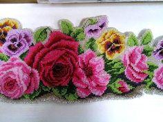 Ukrainian Embroidery Beadwork Belt CORSET DIY Beads Rose Viola Flowers Pink New in Hand Embroidery Patterns | eBay