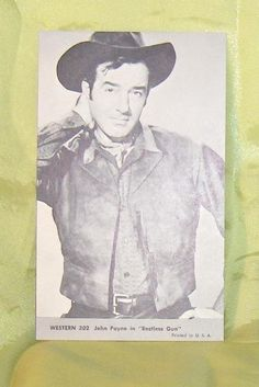 NU-CARD 1959 WESTERN SERIES #302 John Payne in Restless Gun