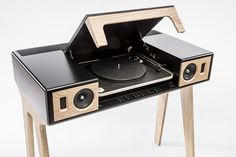 la boite concept LP 160 aims to produce a very high quality sound that allows the optimal use of both traditional and more modern audio sources. Record Player Console, Record Players, Blu Ray Player, Speaker Stands, Speaker System, Speaker Table, Audio System, Tv Box, Stereo Cabinet