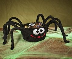 Spider Treat Basket #crochet #halloween