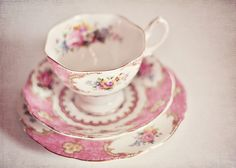 I'd love a dainty little tea set like this... except maybe this one is a little too Dolores Umbridge?